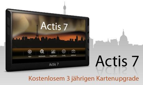 Actis 7 - Aktualizace map po 3 roky zdarma